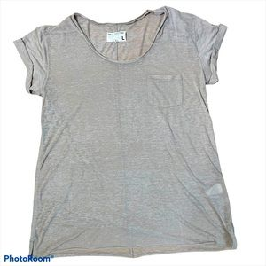 Rag & Bone gray tee with chest pocket Large